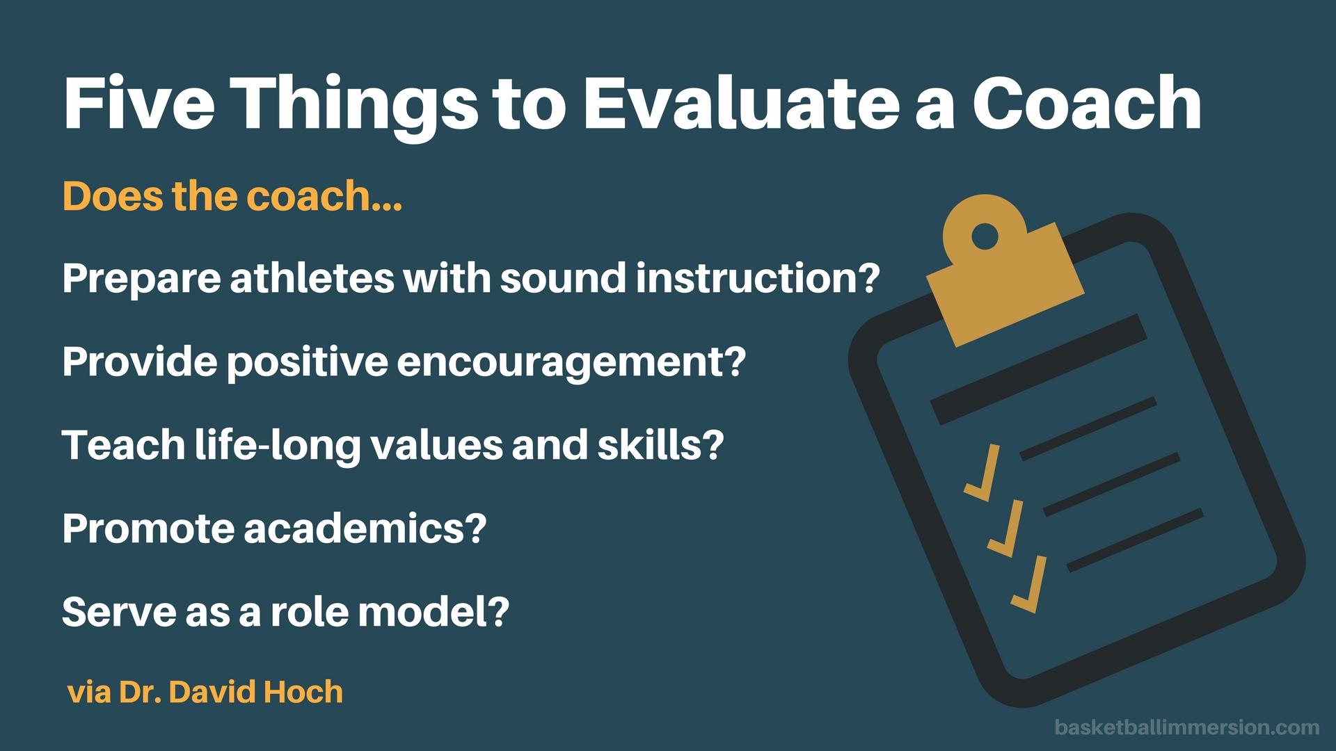 coaching evaluation